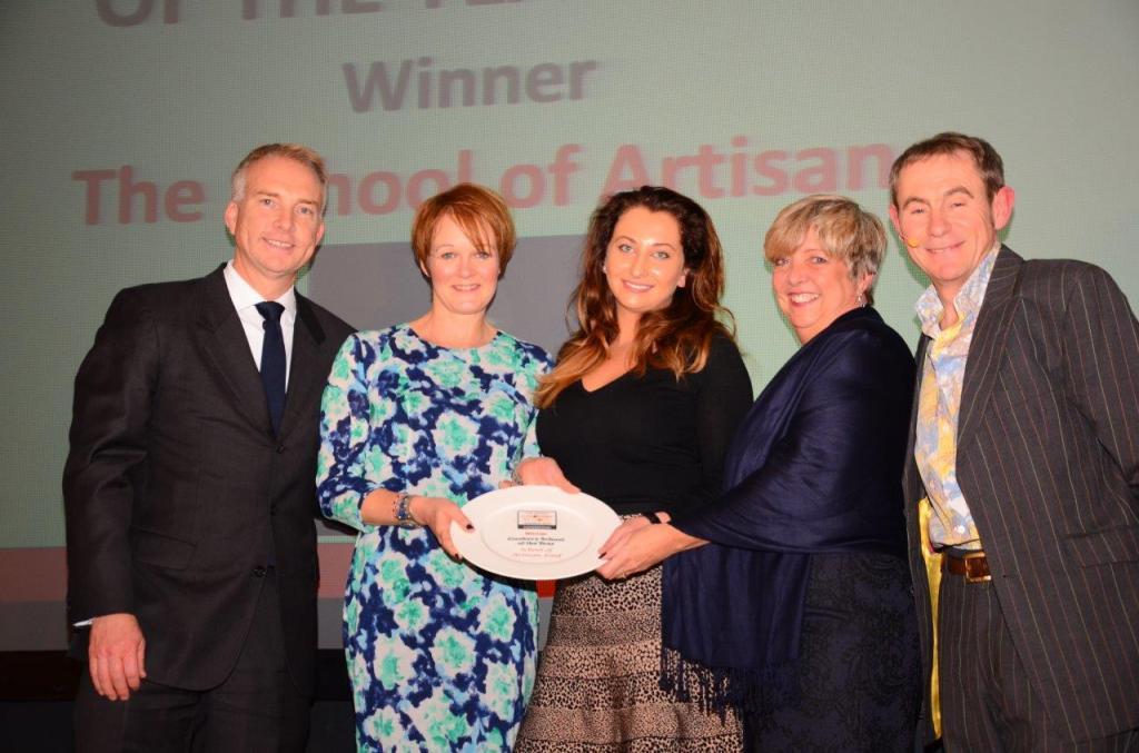 (L - R) Martin Swift from Kenwood, Fiona Shepherd, Amie McDonald and Lynn Hopkins from The School of Artisan Food and Nigel Barden, BBC Radio2 Food Presenter
