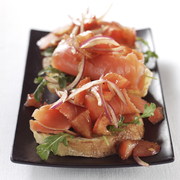 Wild Alaska Smoked Salmon Bruschetta | Lemonaste
