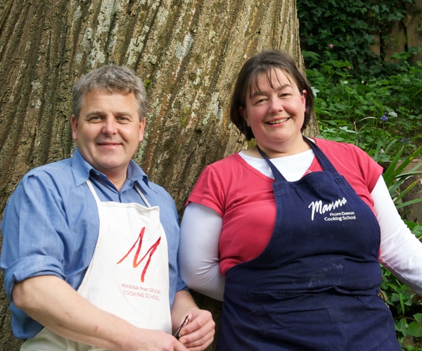 Holly and David Jones, co-owners of Manna from Devon Cooking School
