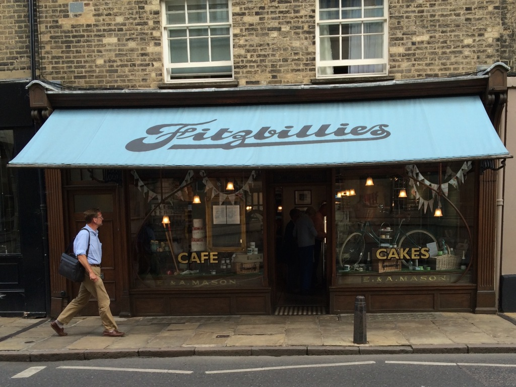 Fitzbillies cafe, famous for its sticky buns