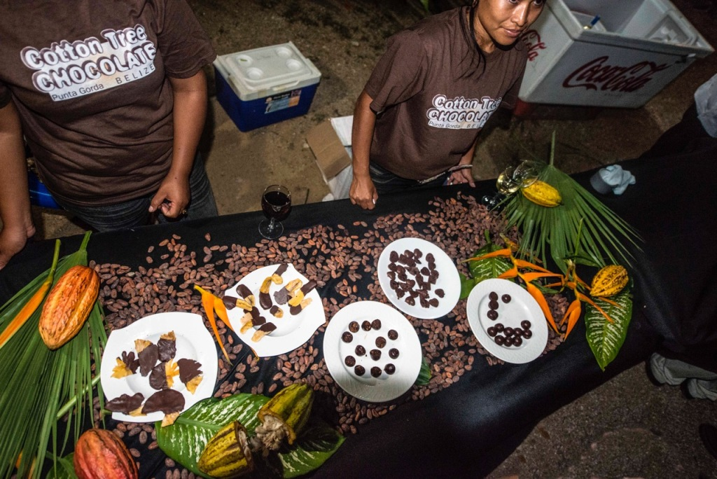 Cocoa beans, chocolate covered bananas to try