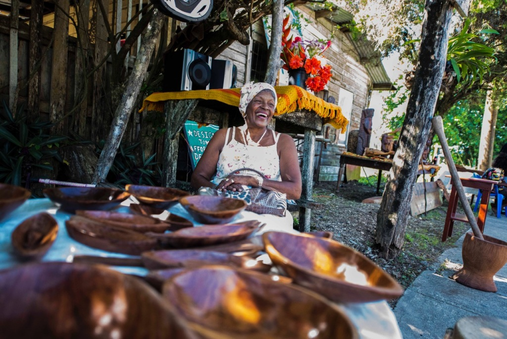 Local crafts for sale at the Chocolate Festival