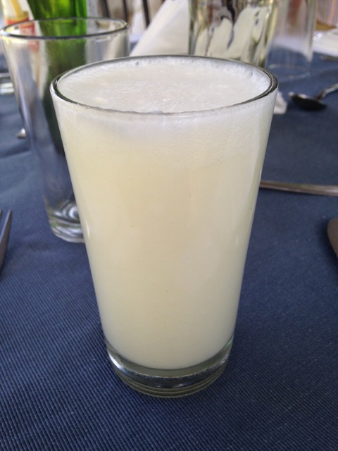 A refreshing glass of pineapple Lassi