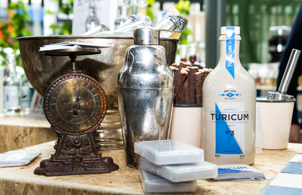Distilled in Zurich, Turicum gin will be served with Gents tonic water
