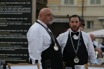 Sommeliers from Parma region of northern Italy